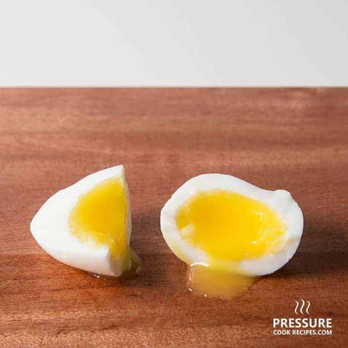 6 minutes pressure cooker soft boiled egg pressurecookrecipes.com