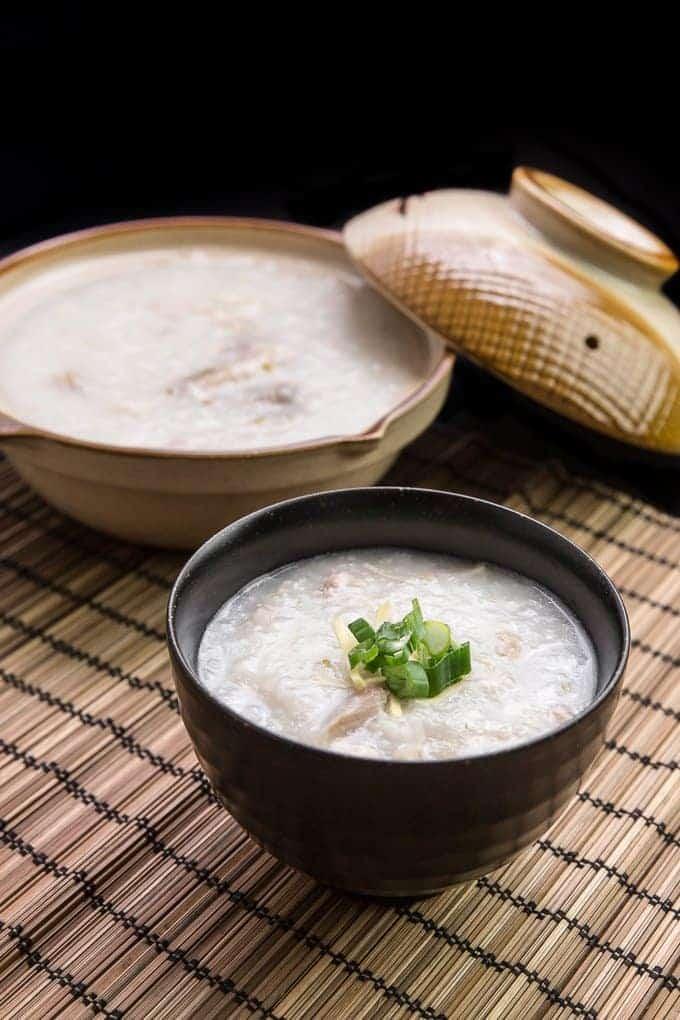 Chicken Congee (Rice Porridge or Jook) in Pressure Cooker Recipe