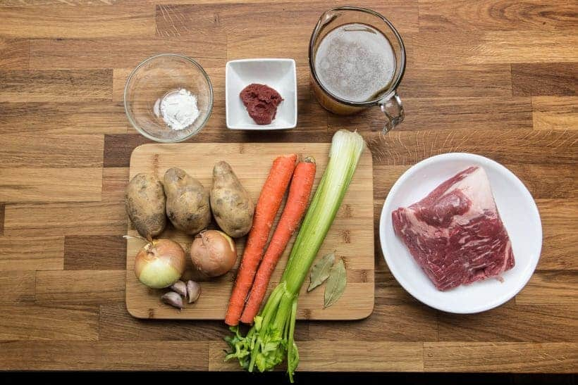 Comforting Pressure Cooker Beef Stew Recipe Ingredients