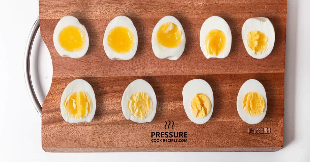 Perfect Pressure Cooker Soft Medium Hard Boiled Eggs Guide