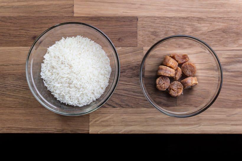 Comforting Pressure Cooker Congee (Rice Porridge or Jook) Recipe Ingredients