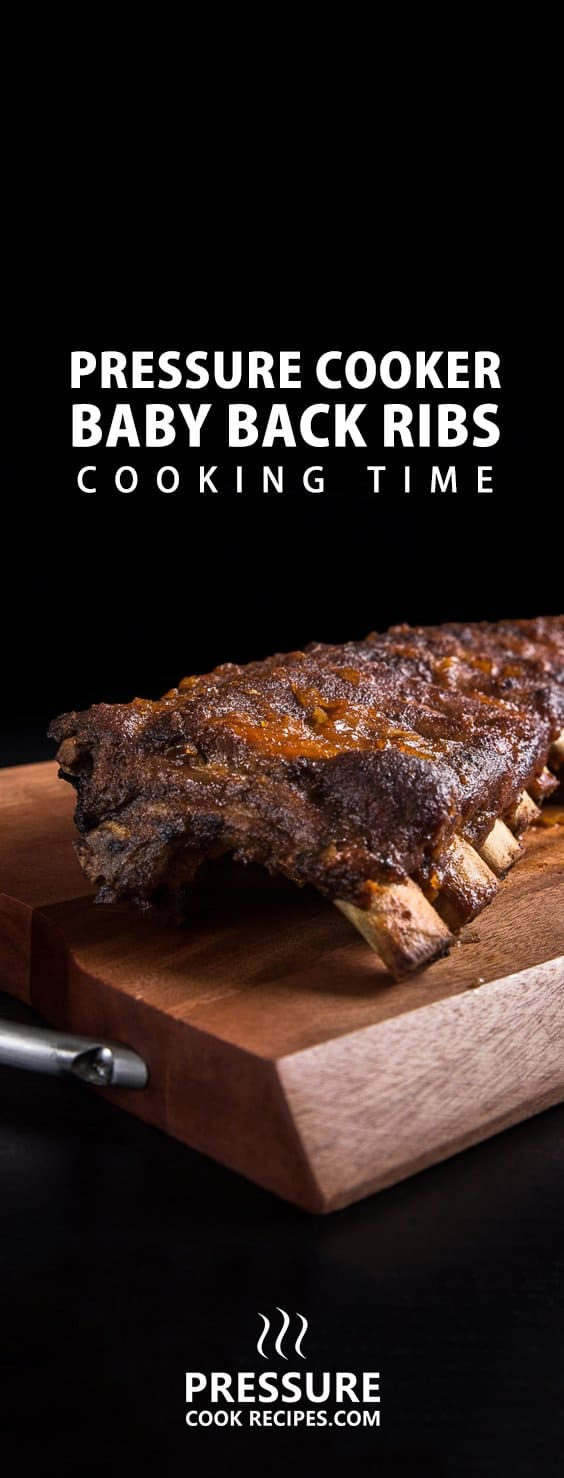 How long to cook pressure cooker baby back ribs? We tested different cooking times to make tender to fall off the bone tender ribs. Find your favorite one!