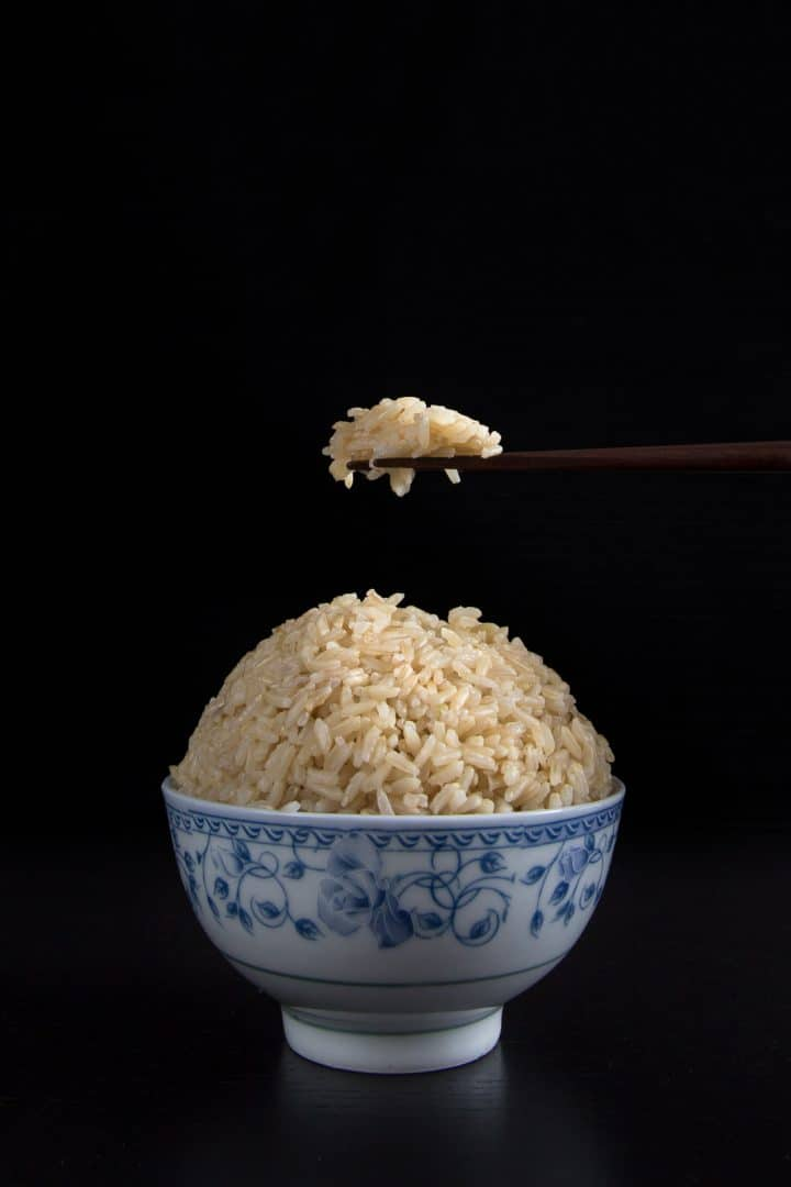 How many calories in 1 2 cup cooked brown basmati rice equals