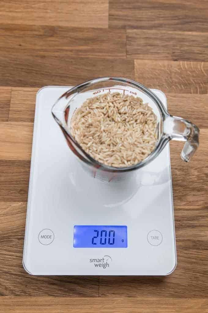 Pressure Cooker Brown Rice Recipe Ingredients