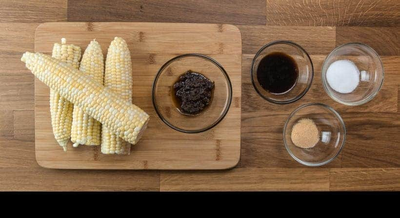 Taiwanese Pressure Cooker Corn on the Cob Recipe Ingredients