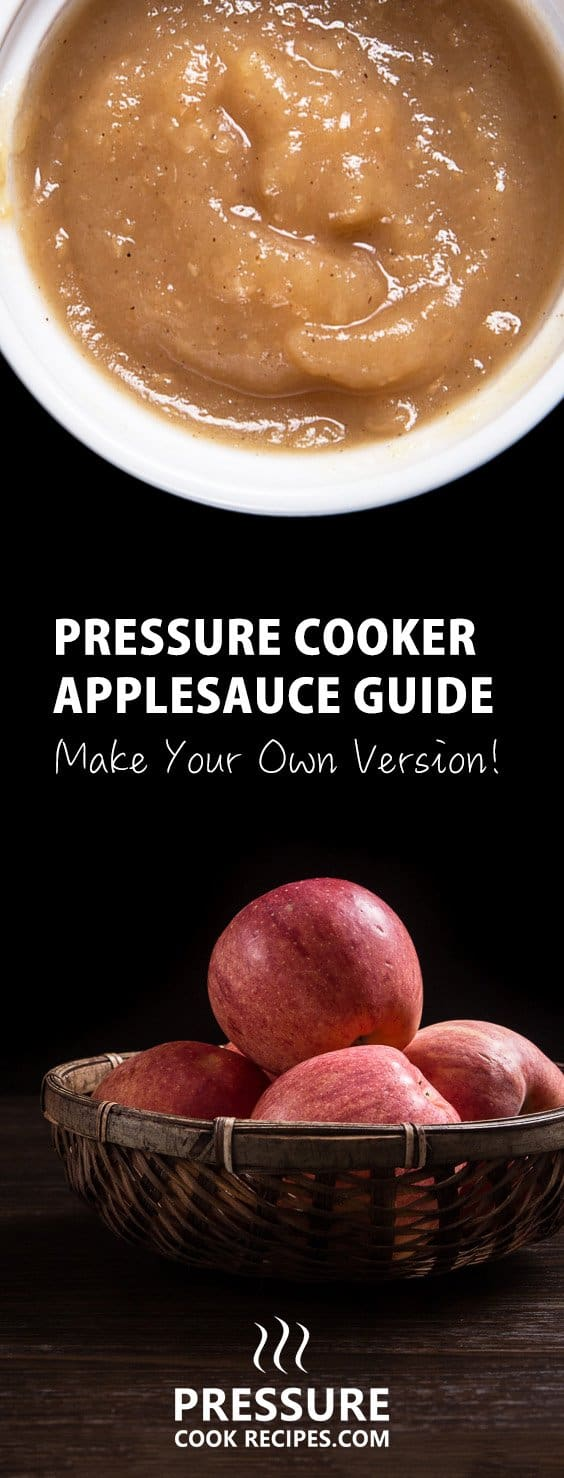 Complete Pressure Cooker Applesauce Guide - breaks down the steps & covers most frequently asked questions. Homemade applesauce is easy, healthy, tasty & fast!