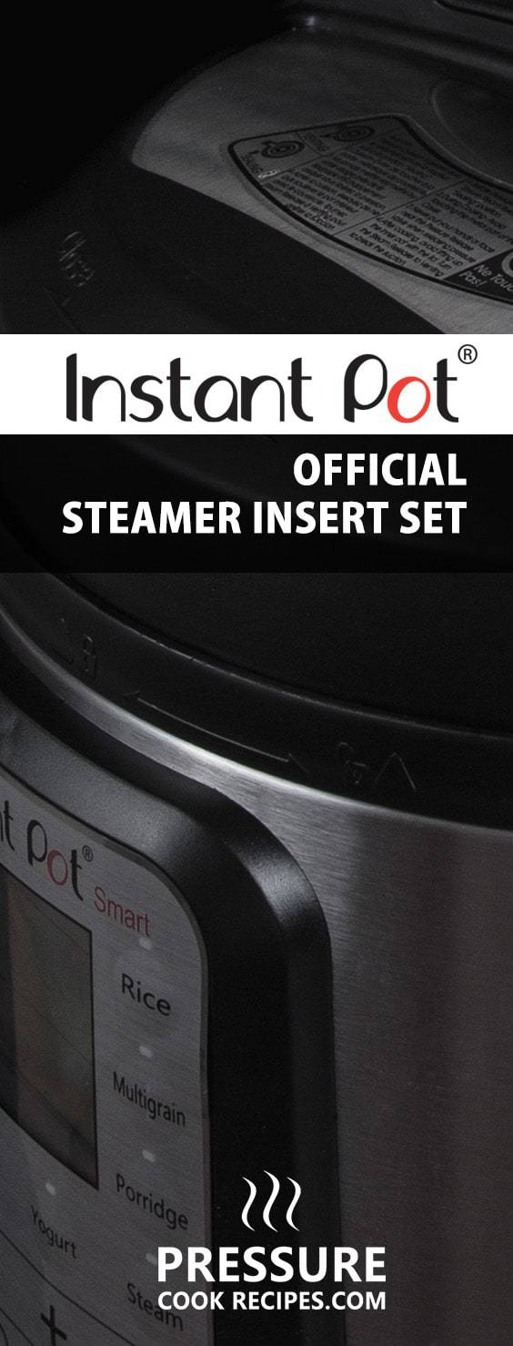 Instant Pot is releasing an Official Instant Pot Steamer Insert Set specifically designed & manufactured for Instant Pot Electric Pressure Cookers!