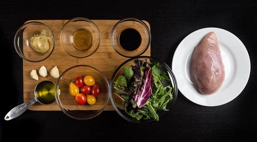 Pressure Cooker Chicken Breast Salad with Homemade Honey Mustard Vinaigrette Recipe Ingredients