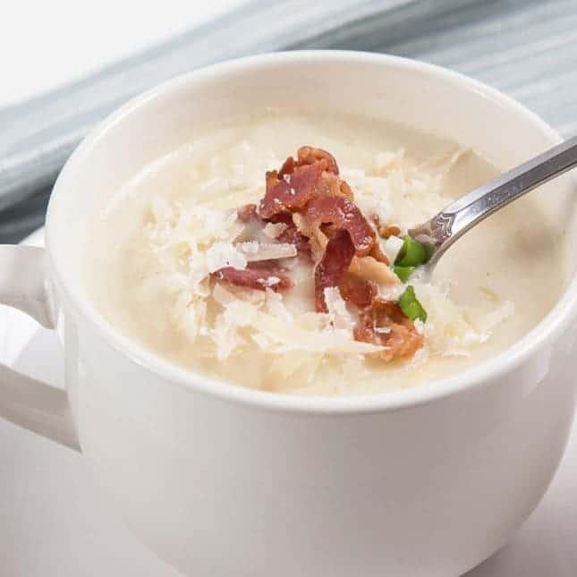 Instant Pot Thanksgiving Recipes (Pressure Cooker Thanksgiving Recipes): Instant Pot Cauliflower Potato Soup Recipe
