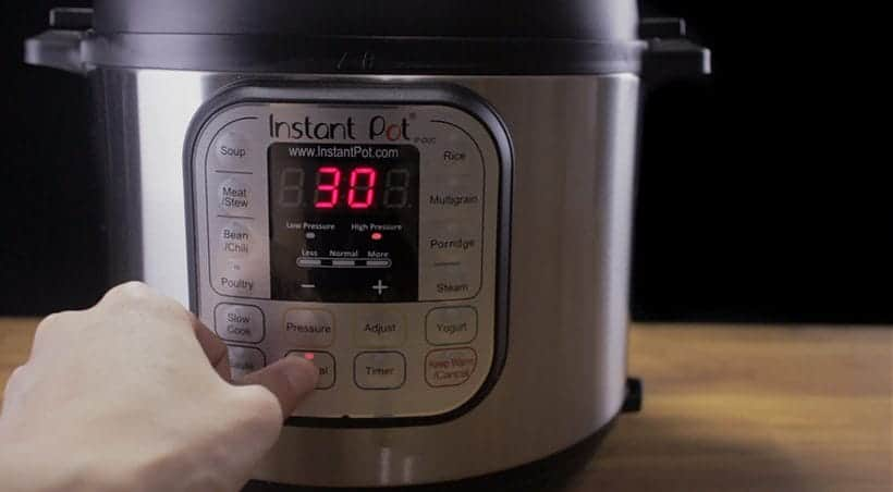 Instant Pot Water Test Manual Button