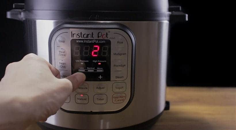 Instant Pot Water Test Set to 2 Minutes