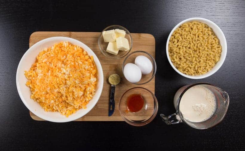Pressure Cooker Mac and Cheese Recipe Ingredients