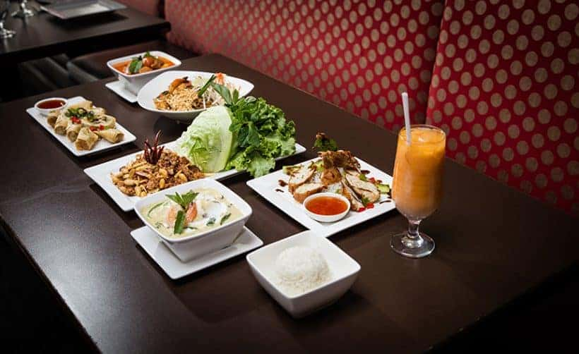 Thai food sampling & taste testing with our Thai restaurant client