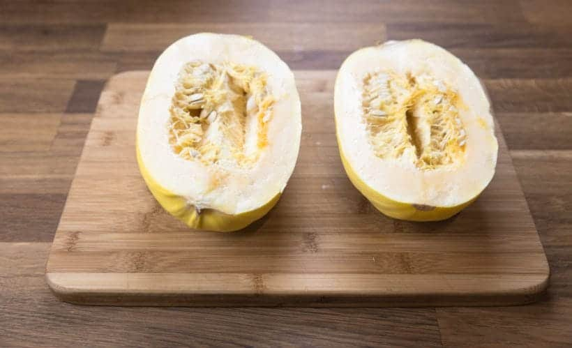 How to Cut Spaghetti Squash   #AmyJacky #InstantPot #PressureCooker #recipe #vegan #GlutenFree #LowCarb #healthy
