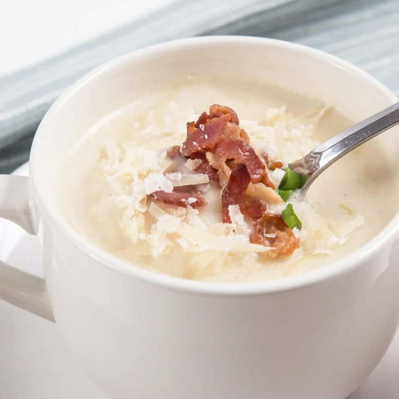 Best Pressure Cooker Recipes: Instant Pot Cauliflower Potato Soup Recipe