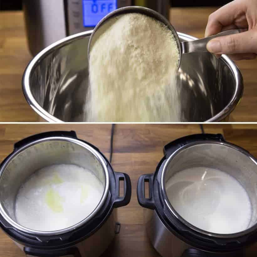 Instant Pot Yogurt Adding Powdered Milk
