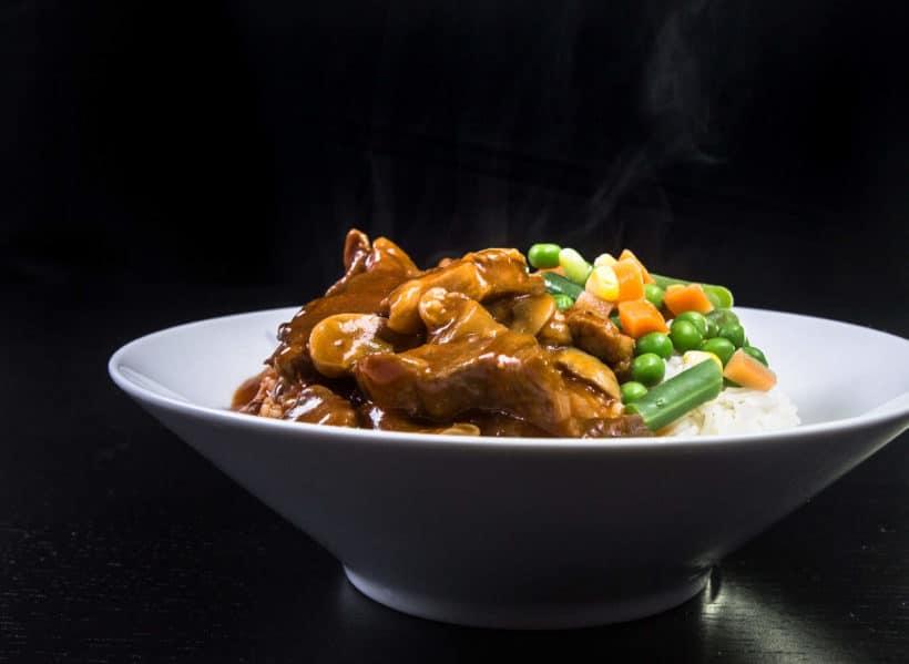 Make juicy Instant Pot Pork Shoulder Recipe in comforting HK Tomato Sauce. Tender pressure cooker pork shoulder over perfect pot-in-pot rice!