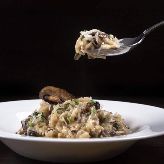 Best Pressure Cooker Recipes (Best Instant Pot Recipes): Instant Pot Mushroom Risotto Recipe (Pressure Cooker Mushroom Risotto Recipe)