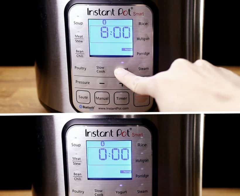 Instant Pot Yogurt Recipe: yogurt setting and function