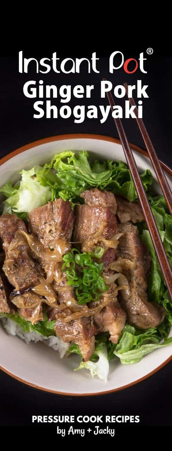 Easy Pressure Cooker Ginger Pork Shogayaki Recipe (Pot-in-Pot): Make this beloved Japanese comfort food. You'll love the rich sweet, savory Ginger Garlic Sauce!
