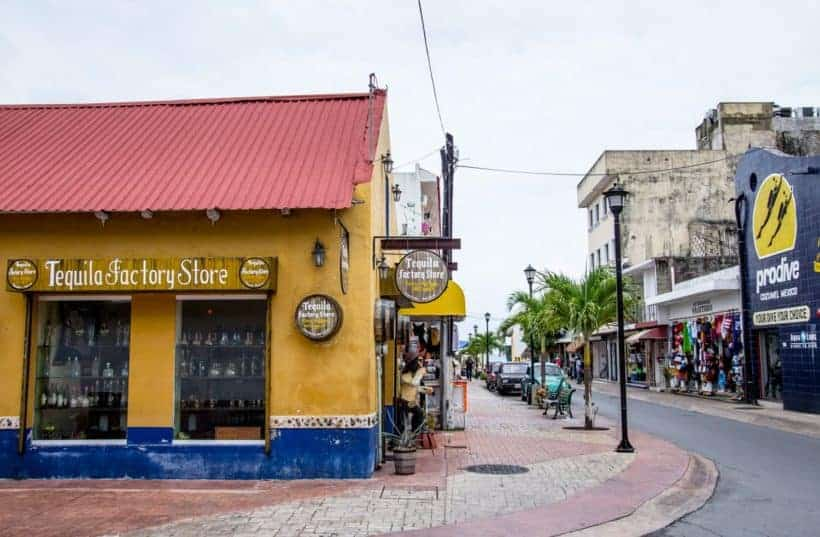 Streets of Cozumel Mexico