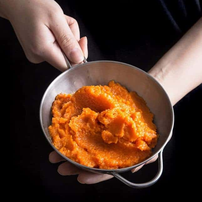Instant Pot Thanksgiving Recipes: Instant Pot Carrot Puree (Pressure Cooker Carrot Puree)