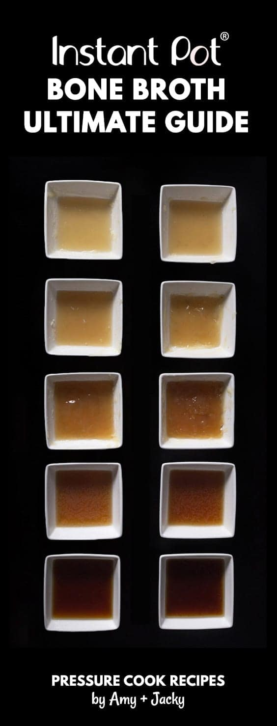 Learn how to make Nutrient Rich Instant Pot Bone Broth Recipe (Pressure Cooker Bone Broth) from our 10+ Experiments! Super easy without simmering for hours.