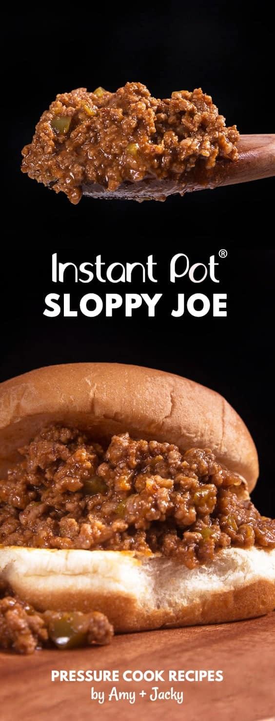Make Family Favorite Instant Pot Sloppy Joes Recipe (Pressure Cooker Sloppy Joes). Sweet-savory, umami homemade sloppy joe is gratifying to eat. Kid-friendly and super easy to make!