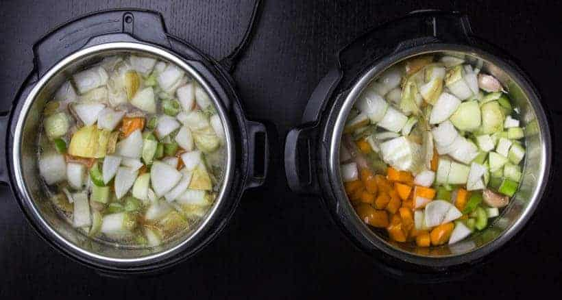 Learn how to make Nutrient Rich Instant Pot Bone Broth Recipe (Pressure Cooker Bone Broth): Sauteed or Roasted vs. Not Roasted Experiment