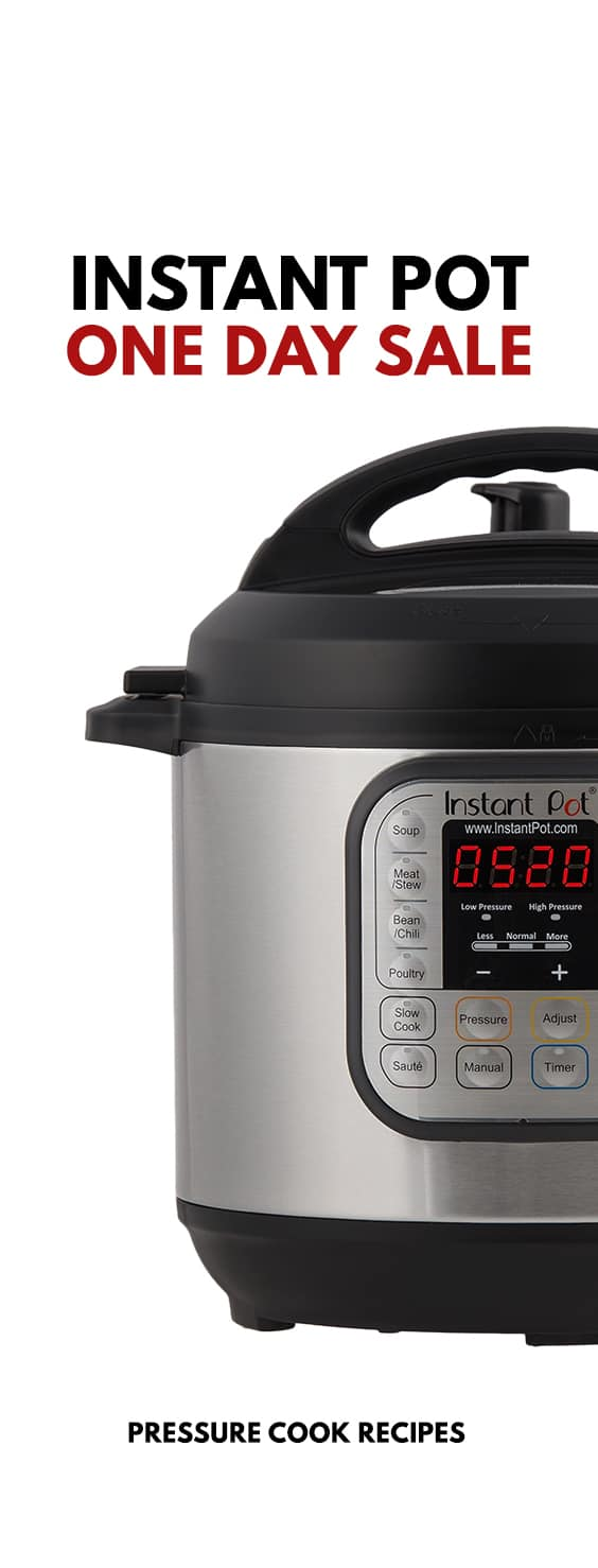 One Day Only Instant Pot Sale! Amazing Instant Pot Deals for 6-Quart Instant Pot DUO60 7-in-1 Electric Pressure Cooker. Don't miss out on some early Christmas shopping.