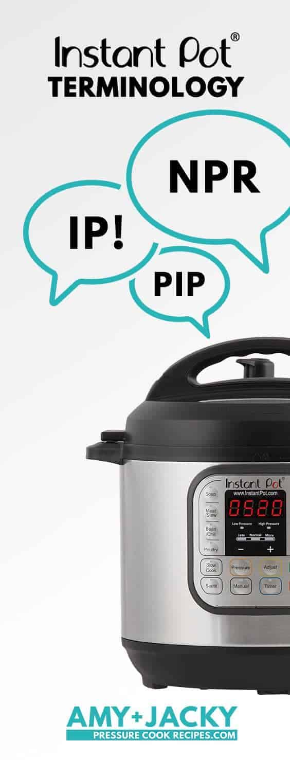 Instant Pot Terminology & Acronyms that will help you learn how to use the Instant Pot, understand Instant Pot Recipes & Manual.