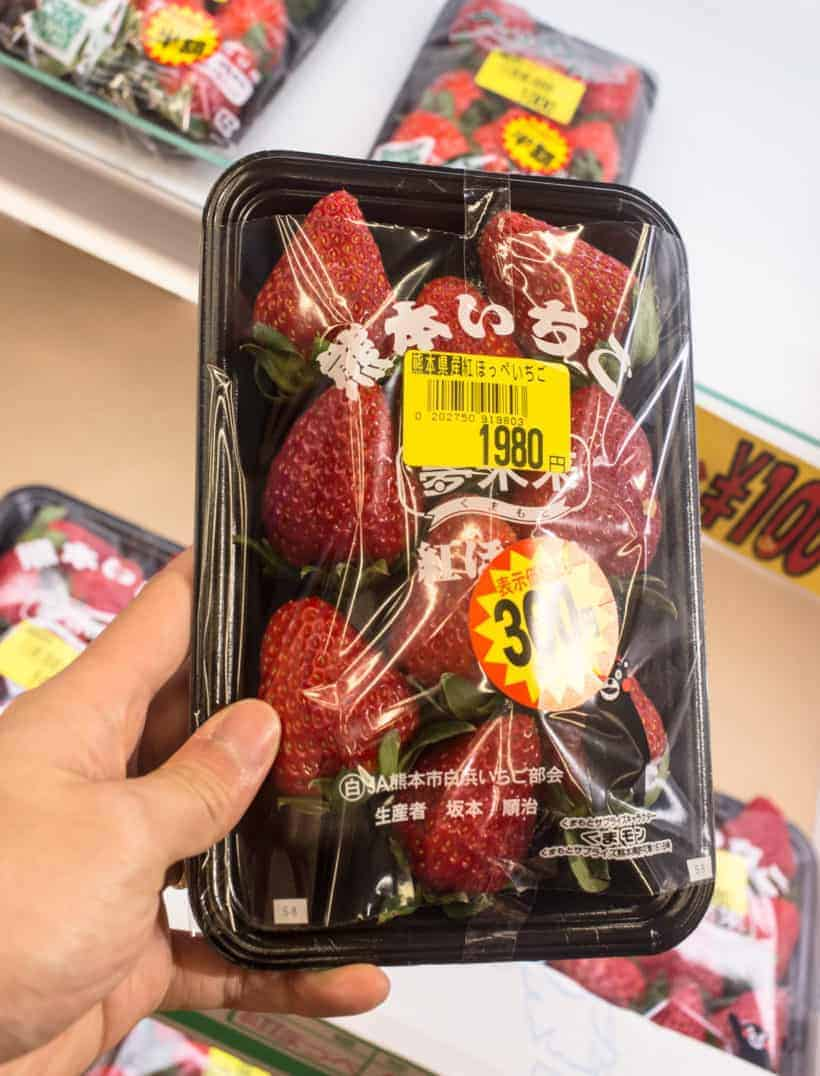 Juicy, sweet, flavorful strawberries from Japan.