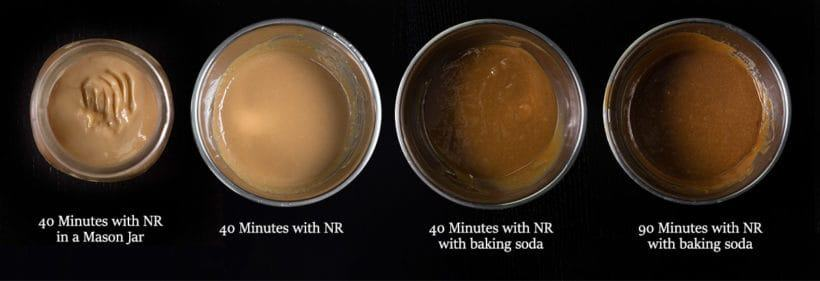 Instant Pot Dulce De Leche Recipe (Pressure Cooker Dulce De Leche) Experiment: pressure cooking sweetened condensed milk caramel with baking soda or not