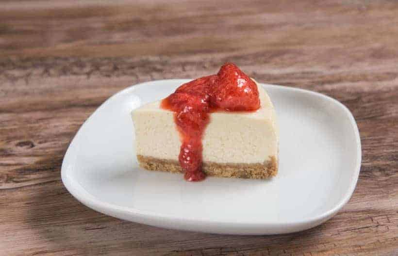 Instant Pot Cheesecake with Strawberry Compote Recipe (Pressure Cooker Cheesecake)
