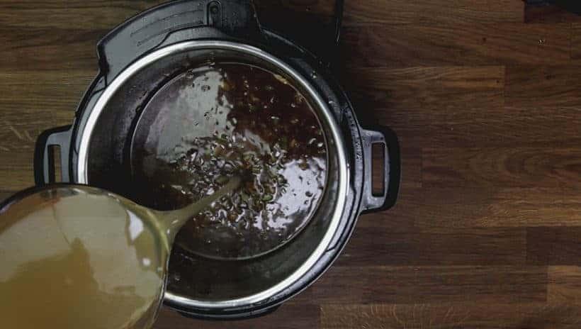 Instant Pot Gumbo Recipe (Pressure Cooker Gumbo): deglaze Instant Pot Pressure Cooker insert