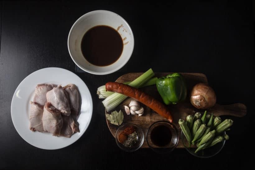 How to make Instant Pot Gumbo Recipe (Pressure Cooker Gumbo) Ingredients