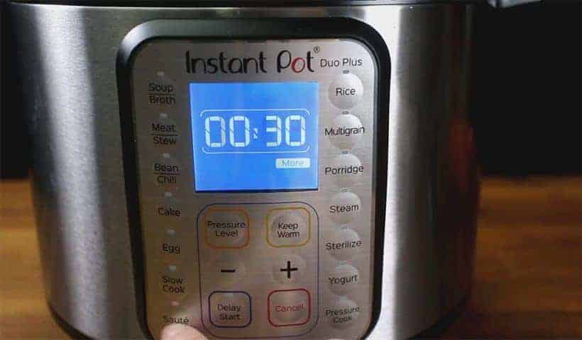 Instant Pot Saute More Function