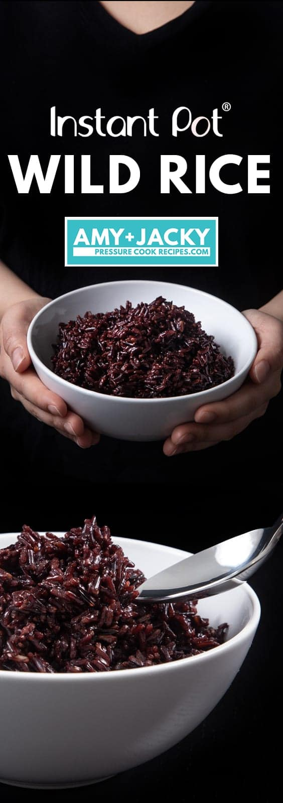 Nutritious Instant Pot Wild Rice Recipe (Pressure Cooker Wild Rice): learn how to make wild rice in half the cooking time. Perfectly tender wild rice with a chew, packed with nutty flavors, and sweet aroma.High Protein, high dietary fiber, low fat. #instantpot #instapot #pressurecooker #instantpotrecipes #powerpressurecooker #rice #vegan #glutenfree #paleo #recipes