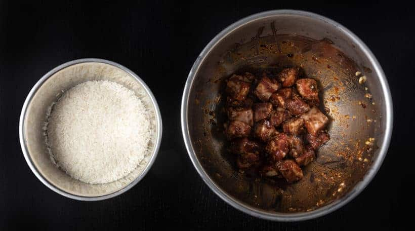 Instant Pot Spare Ribs and Rice (Pressure Cooker Spare Ribs Recipe) Ingredients