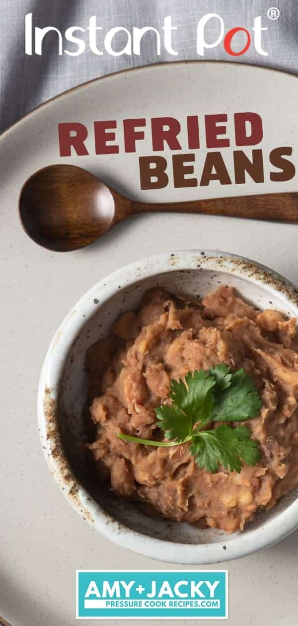 Instant Pot Refried Beans | Pressure Cooker Refried Beans | Instant Pot Pinto Beans | Instant Pot Beans | frijoles refritos | Mexican | Vegan | Vegetarian | Instant Pot Recipes #instantpot #pressurecooker #recipe #beans #side #dip #mexican