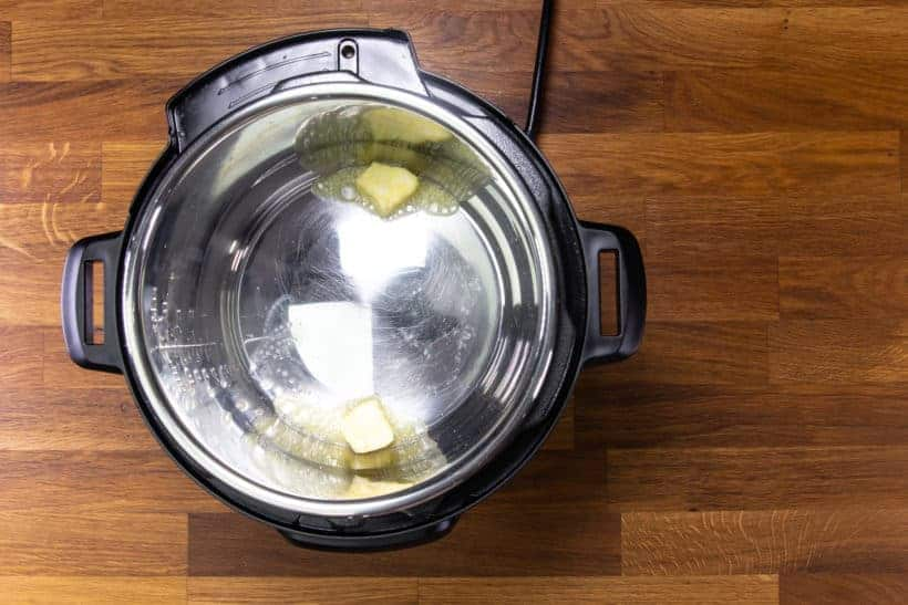 Instant Pot Carrots: melt butter in Instant Pot Pressure Cooker