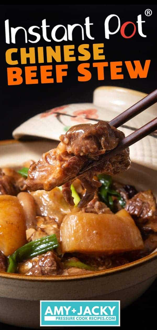 Instant Pot Chinese Beef Stew | Pressure Cooker Chinese Beef Stew | Instant Pot Beef Recipes | Instant Pot Recipes | Beef Brisket Stew | Chinese Beef Brisket | Beef Tendon | Hong Kong Beef Brisket #instantpot #pressurecooker #beef #asian #chinese #dinner #easy