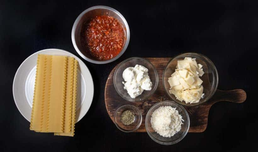Instant Pot Lasagna Recipe Ingredients