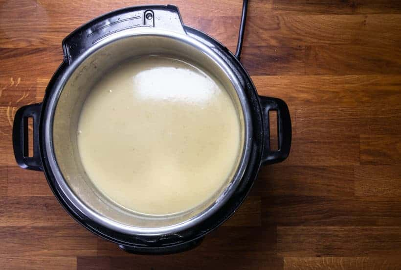Instant Pot Potato Soup: add heavy cream in potato soup in Instant Pot Pressure Cooker