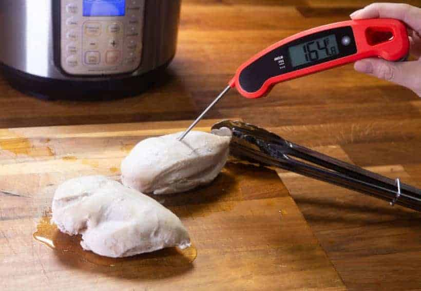 Instant Pot Chicken Breast | Instapot Chicken Breast | Pressure Cooker Chicken Breast: check chicken breasts internal temperature with food thermometer