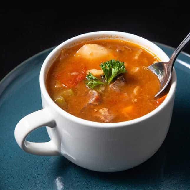 Instant Pot Thanksgiving Recipes: Instant Pot HK Borscht Soup (Pressure Cooker HK Borscht Soup)