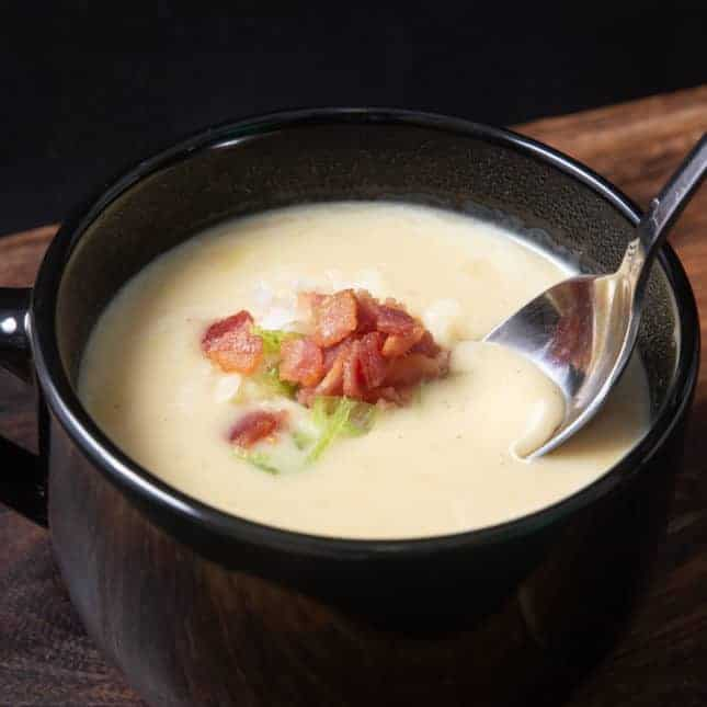 Instant Pot Thanksgiving Recipes: Instant Pot Potato Soup (Pressure Cooker Potato Soup)