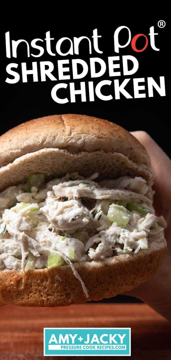 Instant Pot Shredded Chicken | Instapot Shredded Chicken | Pressure Cooker Shredded Chicken | Instant Pot Pulled Chicken | Pressure Cooker Pulled Chicken | Instant Pot Chicken | Healthy Instant Pot Recipes | Pressure Cooker Recipes #instantpot #pressurecooker #chicken #easy #recipes