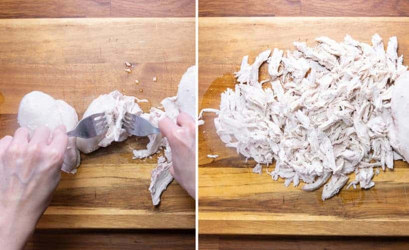 Instant Pot Shredded Chicken: shred chicken in Instant Pot Pressure Cooker