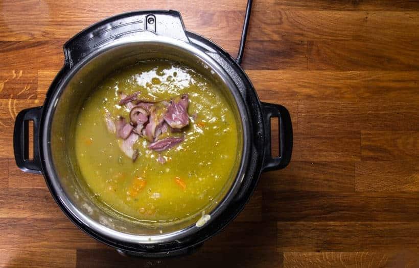Instant Pot Split Pea Soup: make split pea soup with ham in Instant Pot Pressure Cooker